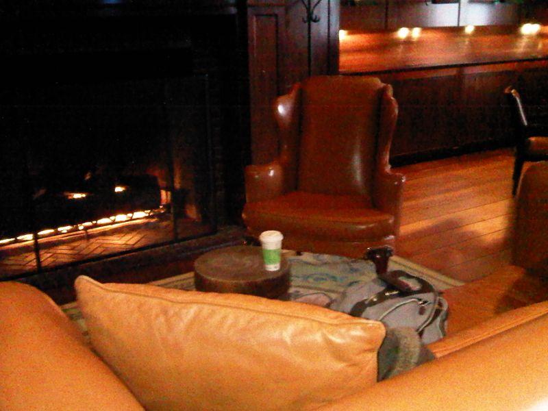 Hudson hotel fireplace