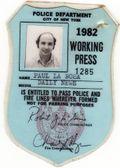 Paul press card 82